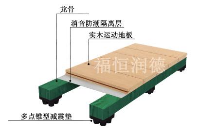 单层龙骨简洁型运动木地板